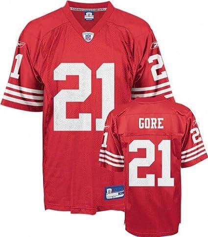327ff62c41fc Amazon.com   Frank Gore Youth Jersey  Reebok Red Replica  21 San ...