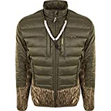 Drake LST Double Down Endurance Hybird Liner Full Zip, Color: Mossy Oak Bottomland, Size: Medium (DW8650-006-2)