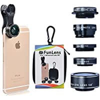 5 in 1 Universal Clip On Cell Phone Camera Lens Kit for...
