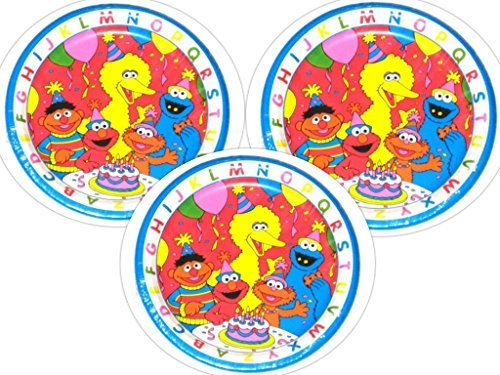 Sesame Street ABC Birthday Party Plates, 24 Count for sale  Delivered anywhere in USA