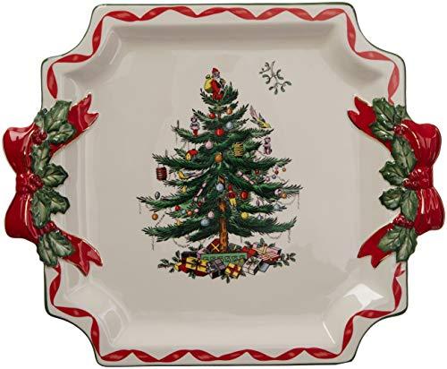 (Spode Christmas Tree Ribbons Square Platter)