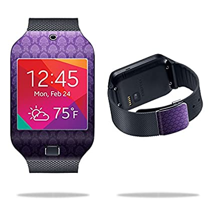 MightySkins Protective Vinyl Skin Decal Cover for Samsung Galaxy Gear 2 Neo Smart Watch wrap sticker skins Antique Purple