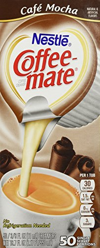 Coffee-mate Liquid Creamer Singles - Cafe Mocha - 50 ct