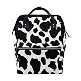 WOZO Cow Print Multi-function Diaper Bags Backpack Travel Bag