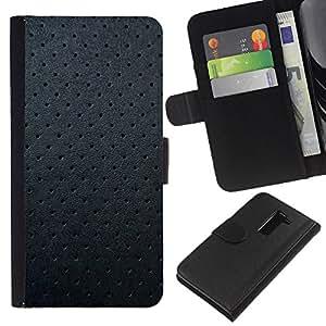 All Phone Most Case / Oferta Especial Cáscara Funda de cuero Monedero Cubierta de proteccion Caso / Wallet Case for LG G2 D800 // Black Leather Texture Pattern Spots Grey