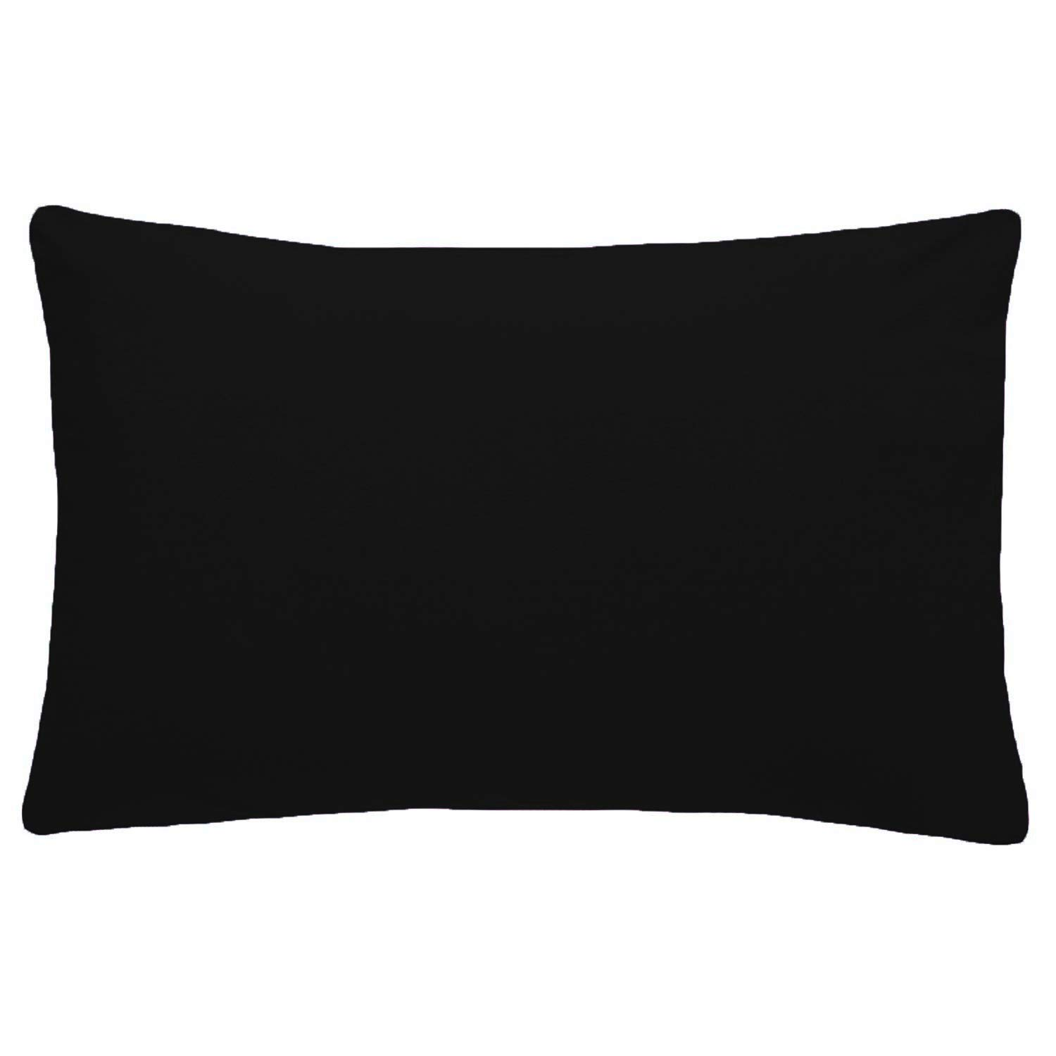 Comfy Nights PolyCotton Plain Dyed Flat Sheet Or Pillow Pair, Double - Black Home Tex Ent