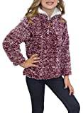 #3: STKAT Girl's 1/4 Zip Long Sleeve Pebble Pile Casual Sherpa Fleece Pullover