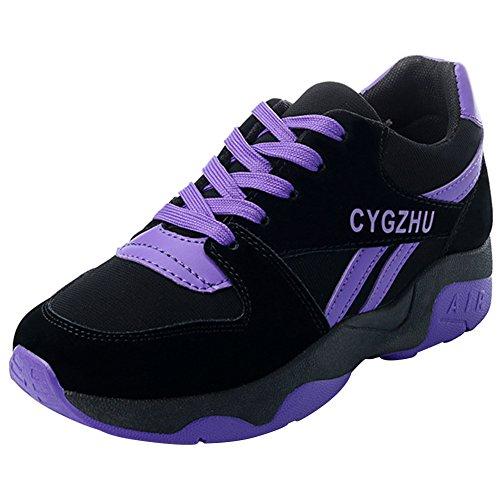 meet 10272 654e9 Suédé Course Course Course Sport 35 Chaussure Semelle Gym Epais wealsex  Violet 40 8e894c