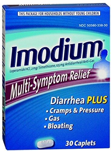 Imodium Multi-Symptom Relief Caplets 30 ea (9 Pack) by Pharmapacks