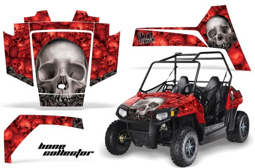 AMRRACING Polaris RZR 170 Youth All Years Full Custom UTV Graphics Decal Kit - Bone Collector Red (170 Polaris Graphic Kits)
