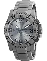 Invicta Mens Excursion Quartz Titanium Casual Watch, Color:Silver-Toned (Model: 90154)