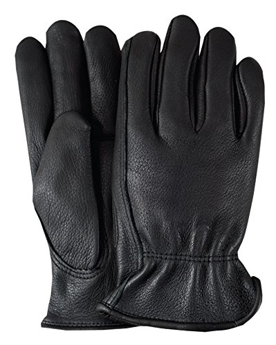 Illinois Glove Company 93XLB Water Repellent Grain Cowhide 3M Thinsulate Lined Gloves, XL, Black -