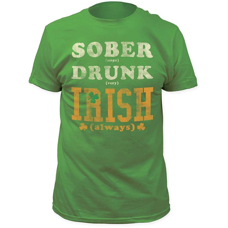Impact Originals - Mens Sober Drunk Irish Fitted Jersey T-Shirt