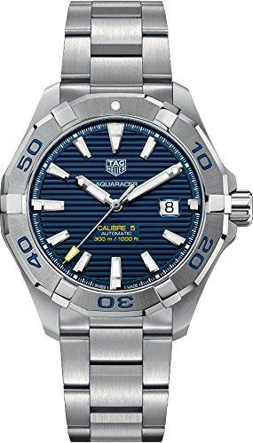 Dial Aquaracer Chronograph Watch - Tag Heuer Aquaracer Automatic Blue Dial Mens Watch WAY2012.BA0927