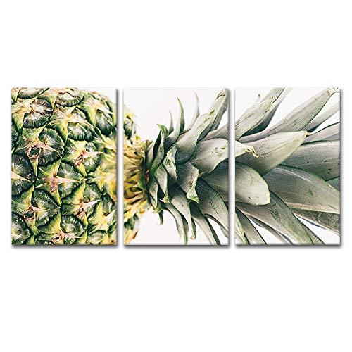 3 Panel Pineapple Wall Decor x 3 Panels