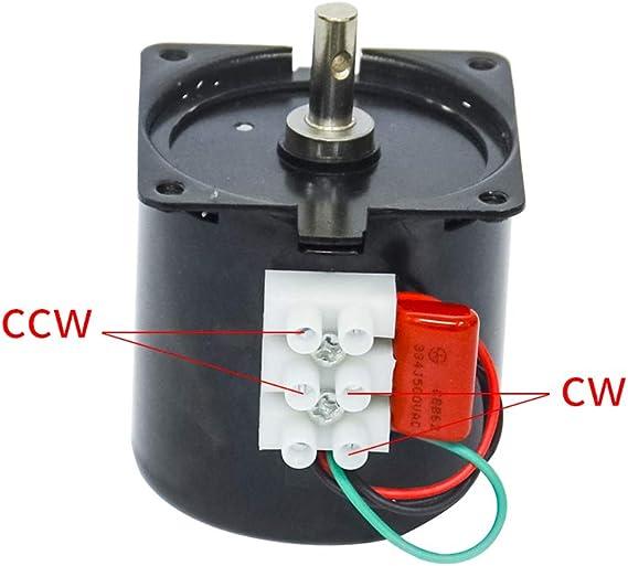 60KTYZ 1.2Rpm 14W 220-240V 50HZ 60HZ AC Synchronous Motor CW//CCW Low Speed Motor