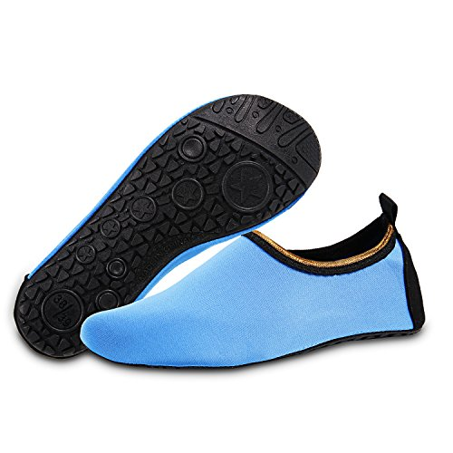De Bottes Pieds Sur Blue Chaussures Plein La Shoes Pied Exercice Air Mens En Plonge Pour Iceunicorn Sous Yoga Bain Femmes marine Nus Gold Water Edge Course Surf Plage Diving UfntYxOI