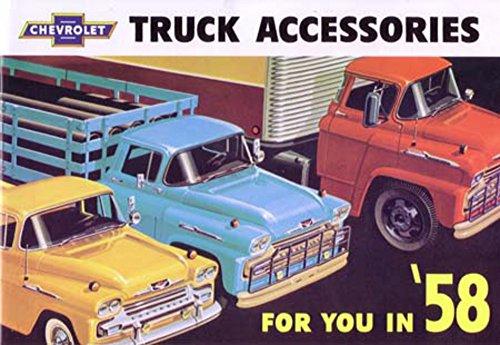 - 1958 Chevrolet Truck Accessories Sales Brochure Literature Book Piece Options