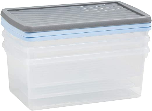 Wham – 13129 Caja Conjunto De Cajas para Almacenaje, 3 Unidades ...