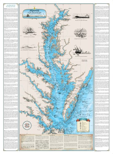 Chesapeake Bay Shipwreck Chart: Harve De Grace to Norfolk (Laminated)