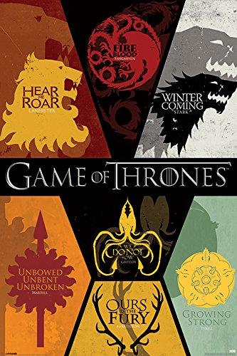 Grupo Erik PP33277 Poster Game Of Thrones Sigils, carta, Multicolore, 91 x 61,5 x 0,1 cm 91 x 61 Gadget