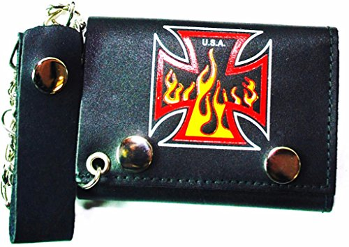 Top Bull Leather Chain Wallets