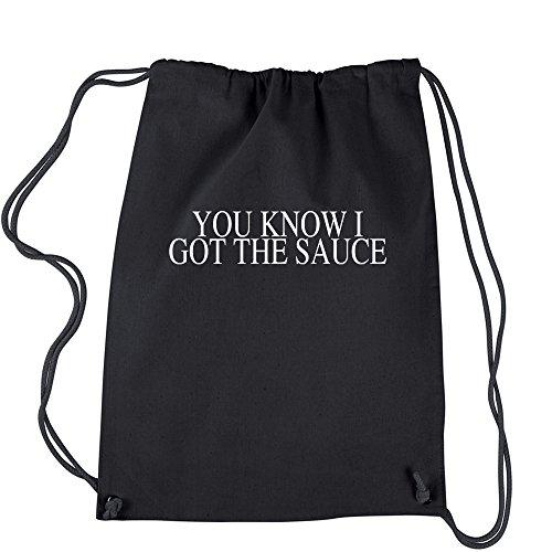 Backpack You Know I Got The Sauce Black Drawstring - Bk Sauces