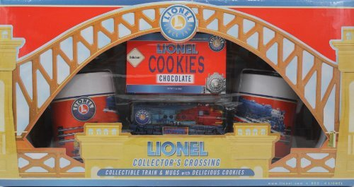 Lionel Collector's Crossing Collectible Train & Mugs with Co