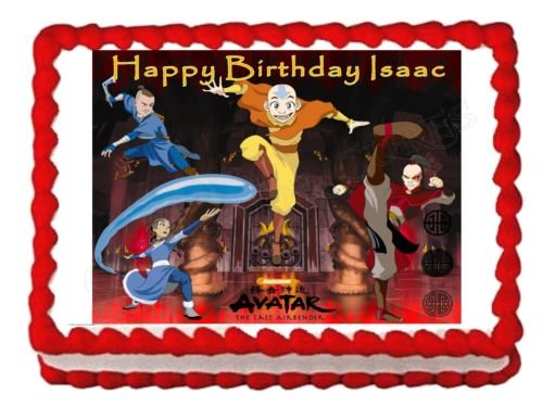 AVATAR AIRBENDER party decoration cake topper edible cake image frosting sheet -