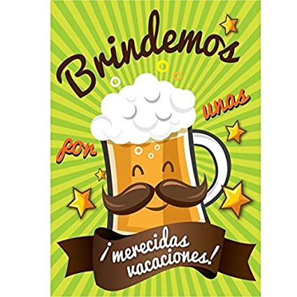 CGN Tarjeta jubilacion Cerveza: Amazon.es: Juguetes y juegos