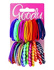 Goody Girls Ouchless Elastic Hair Ties, No-metal, 60 count, A...