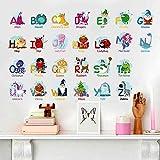 Jungle Animal Across the Bridge Removable Cartoon Wall Sticker Wall Decal Wall Decor Wallpaper for Kids Boys Girls Children Room