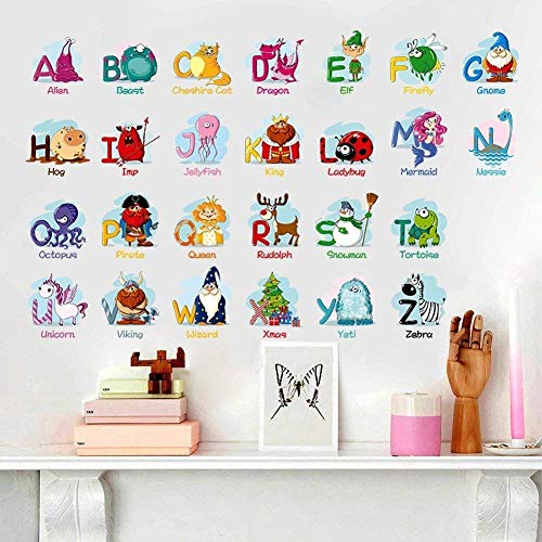 Elephant Mural Wood (Jungle Animal Across the Bridge Removable Cartoon Wall Sticker Wall Decal Wall Decor Wallpaper for Kids Boys Girls Children Room)