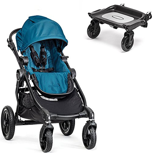Baby Jogger City Select Black Frame Stroller w Glider Board (Teal) (Glider Board City Select compare prices)