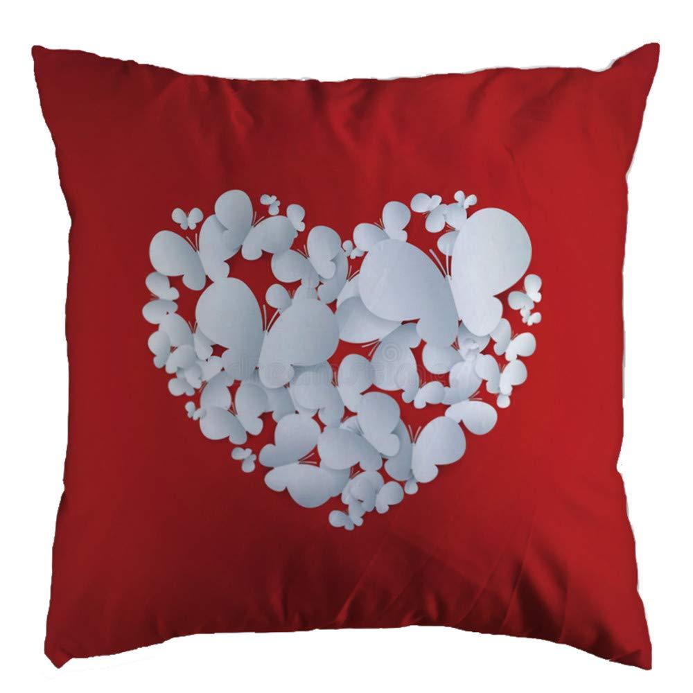 "Chenway 18 ""×18"" Glitter Cotton Soft Sofa Throw Cushion Cover Joyous Merry Christmas Super Pillowcase New Xmas Hidden Zipper Closure Pillow Case | for Home Decoration Office Sofa Car Bedroom (B)"