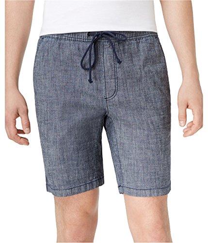 American Rag Men's Classic Fit Stretch Chambray Drawstring Shorts (Large)