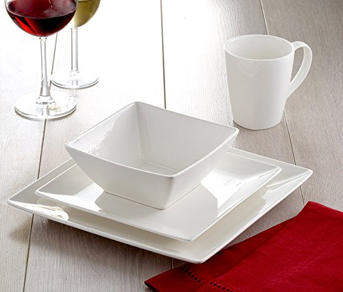 Roscher 32-Piece Pure Square Fine China Dinnerware Set (Service for 8) by Roscher (Image #2)