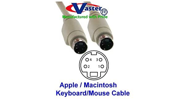 Male to Male Cable Super E Cable/_20856 3pack 6 Ft Mini Din 4 Pin Keyboard /& Mouse or S-Video
