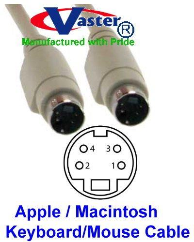 Keyboard & Mouse Cable - Mini Din 4P - (M-M) - 6 FT - 20856-10 PCS/PACK