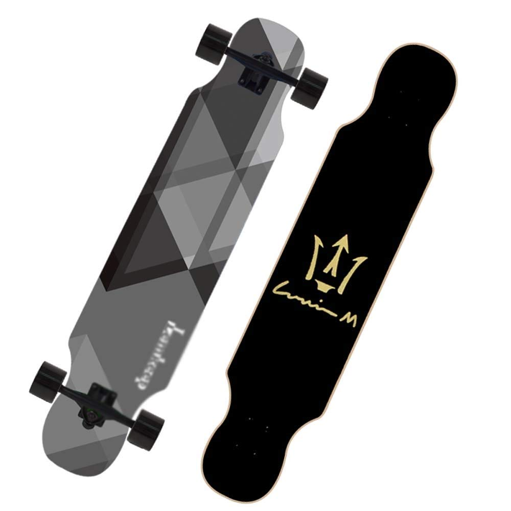 KYCD 42-Zoll-Longboard, professionelles Skateboard, 4-Rad-Brush-Street-Board für Anfänger und Junge Leute (Farbe   A) B07PXYYK14 Longboards Gute Qualität
