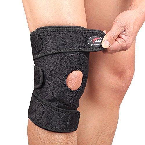 Socko Do not Fluff Breathable Knee Support, Non-slip Knee Brace Sleeve Wraps with Stabilizer and Neoprene Knee Pads Protector for Running,Sports, Adjustable, Black A820