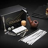 Ebony Tobacco Pipe Handmade Wood Smoking Pipe