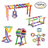 Kabi 100Pcs Color Puzzle Bodybuilding Create Playground Interactive Baby Monkey Climbing Toy For Finger Monkey Panda Squirrel Play