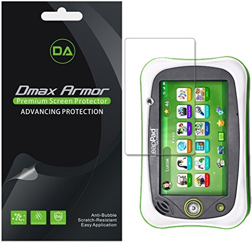 Dmax Armor [3-Pack] for Leapfrog LeapPad Ultimate Screen Protector, Anti-Bubble High Definition Clear Shield (Leappad Screen Replacement)