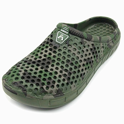 Image of Amoji Unisex Camouflage Slippers Clogs Sandals