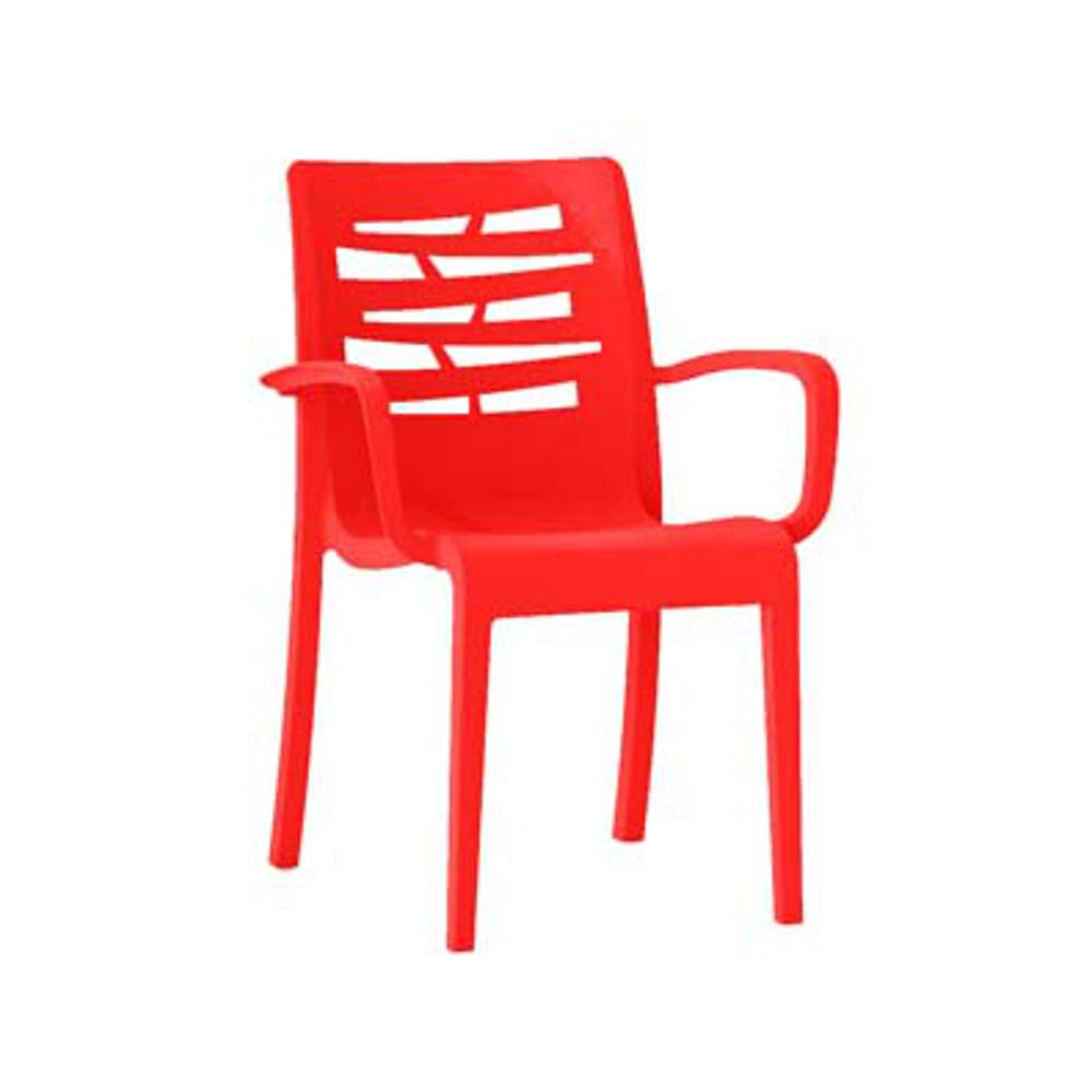 Grosfillex US811414 Essenza Stacking Armchair, Red (Case of 4)