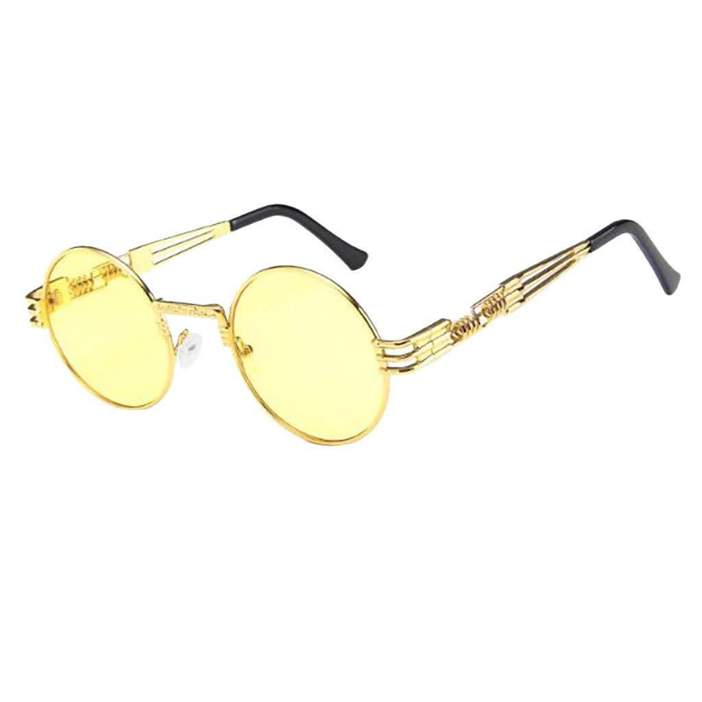 TANLANG Retro Round Circle Metal Flat Mirror Trend Punk Wind Glasses Frame Lennon Polarized Sunglasses For Men Women