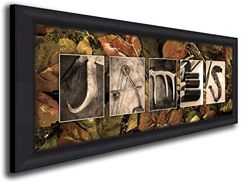 amazon com personal prints personalized hunting name art lodge