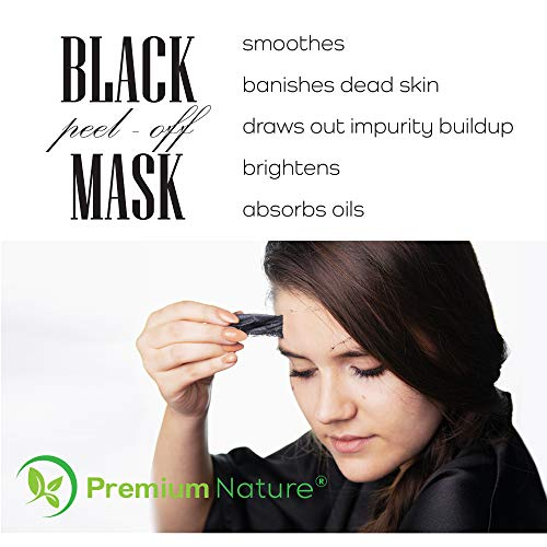 Black Charcoal Peel Off Mask - Natural Blackhead Remover Mask Activated Charcoal Black Face Mask Peel