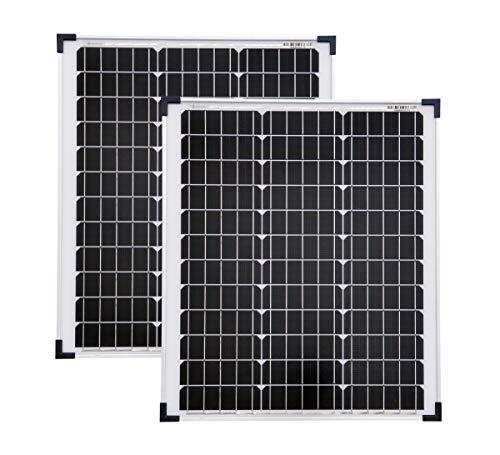 solartronics Solarmodule 2 Stück 50 Watt Mono Solarpanel Solarzelle Photovoltaik 92336